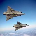 Flyg med J 35 Draken